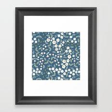 Ditsy Blue Framed Art Print