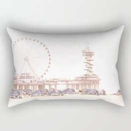 The Scheveningen Pier - The Hague Beach Rectangular Pillow