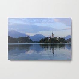 Romantic adventures at lake Bled Metal Print