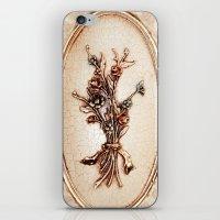 vintage flowers iPhone & iPod Skins featuring Vintage Flowers by Christine baessler