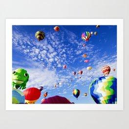 balloon fiesta Art Print