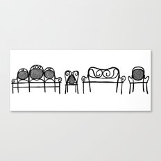 Tonet chairs Canvas Print