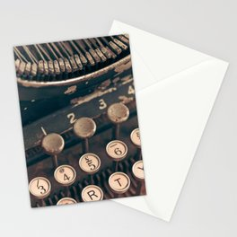 Vintage Typewriter - Macro Photography #Society6 Stationery Cards