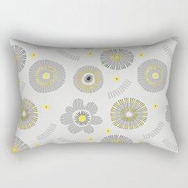 Yellow and Black Rectangular Pillow