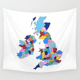 England, Ireland, Scotland & Wales Wall Tapestry