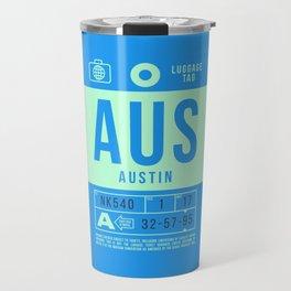 Luggage Tag B - AUS Austin USA Travel Mug