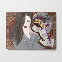 Intelligence and Beauty  Metal Print
