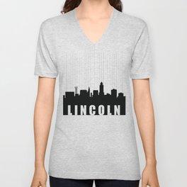 Lincoln Skyline Unisex V-Neck