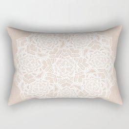 Modern boho Love Mandala pattern - Terracotta cream Rectangular Pillow