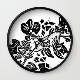 Orchidelirium Wall Clock
