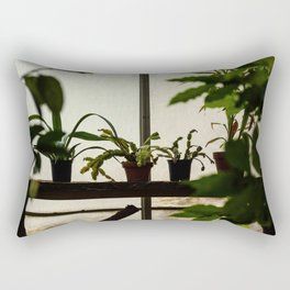 Plants on the Edge Rectangular Pillow