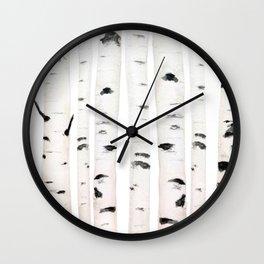 birch horizontal Wall Clock