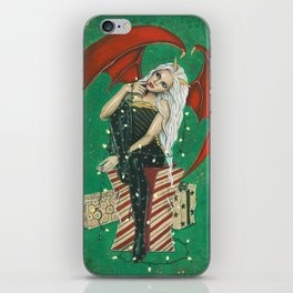 Naughty Or Nice Christmas Demon iPhone Skin