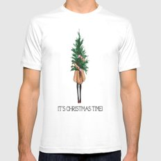 It's Christmas Time White Mens Fitted Tee MEDIUM