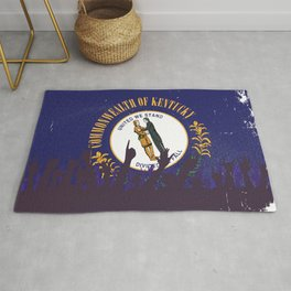 Kentucky State Flag with Audience Rug