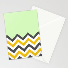 Color Blocked Chevron 13 Stationery Cards