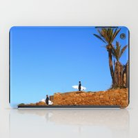 morocco iPad Cases featuring Morocco Surfers by suzyoconnor