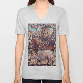 The Three Little Pigs Unisex V-Neck