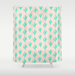 Cactus Print Shower Curtain