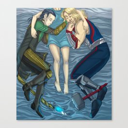 Norse Gods Snuggle Blanket Canvas Print