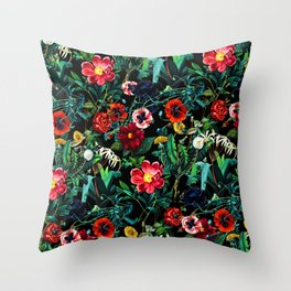 Night Forest VII Throw Pillow
