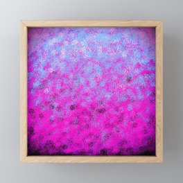 Totally Awesome Periwinkle Lavender Pink Framed Mini Art Print