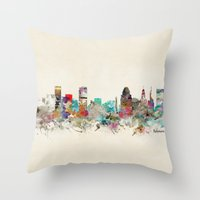 baltimore Throw Pillows featuring baltimore maryland by bri.buckley