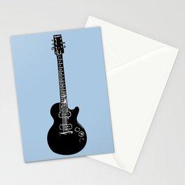 Electric Guitar (Black on Lt. Blue Stationery Cards