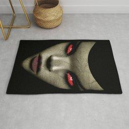 Evil Nun Close Up Portrait Illustration Rug
