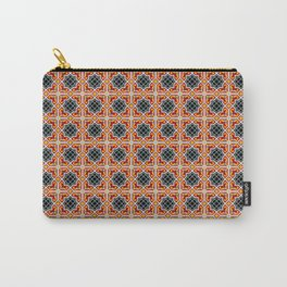 Barcelona tile red octagonal pattern Carry-All Pouch