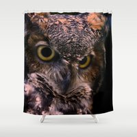 owl Shower Curtains featuring Owl  by AvHeertum