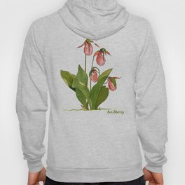 Pink Lady's Slipper Orchid Hoody