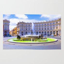 Fountain of Piazza della Republica in Rome Rug