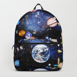 Vibrant mirrored Universe pattern Backpack