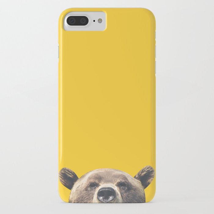 bear - yellow iphone case