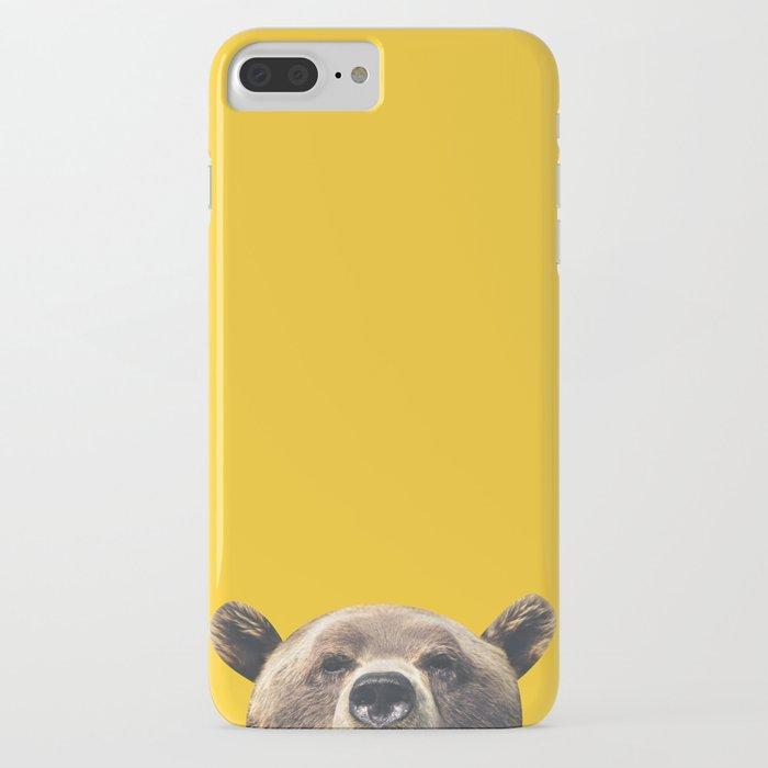 bear - yellow iphone case