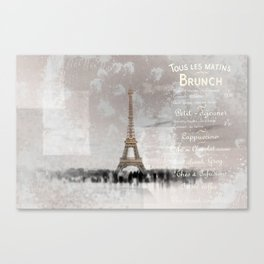 PARIS Collage Canvas Print