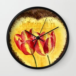 My Heart Always With You Wall Clock