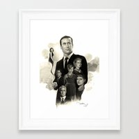 mad men Framed Art Prints featuring Mad Men by Nithin Rao Kumblekar
