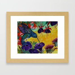 Sweet Purple Hummingbird Art Framed Art Print