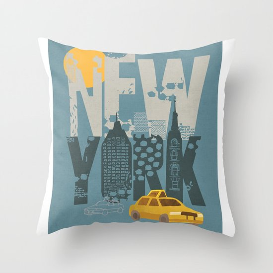 New York! New York! Throw Pillow