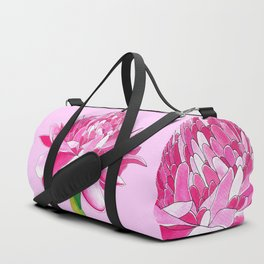 Flower#11 - Red Ginger Lily Duffle Bag