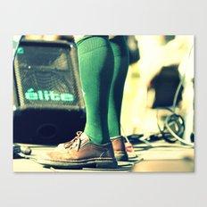 Green socks Canvas Print