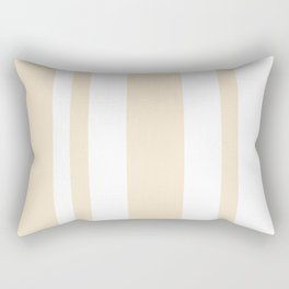 Mixed Vertical Stripes - White and Champagne Orange Rectangular Pillow