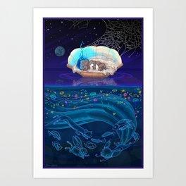 Sleeping Creativity (commission) Art Print