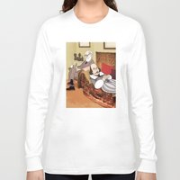 freud Long Sleeve T-shirts featuring Freud analysing Shakespeare by Studio Drawgood