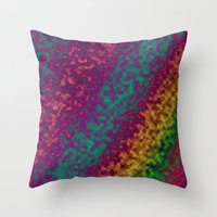 tie dye Throw Pillows featuring Tie Dye by Kings in Plaid