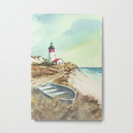 sea coast lighthouse Metal Print