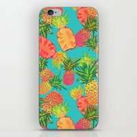 pineapples iPhone & iPod Skins featuring Pineapples by Laura Barnes