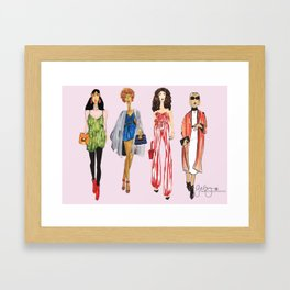 Fashion Drawing Series Pouch, Pinales Illustrated Framed Art Print